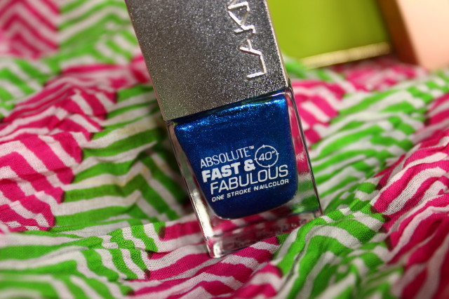Lakme Fast and Fabulous Aqua Blaze Nail Polish