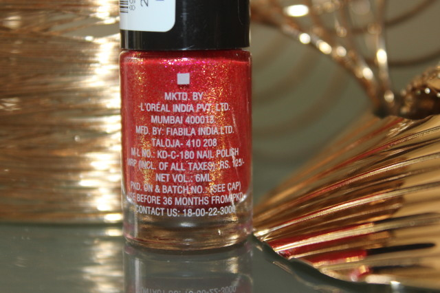 Maybelline Colorshow Glitter Mania Red Capet Swatch