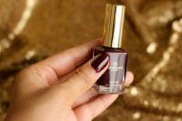 Oriflame Giordano Gold Polish in Noble Burgundy Review Swatches